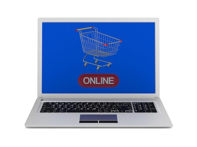 Compras online. renderização 3d isolada