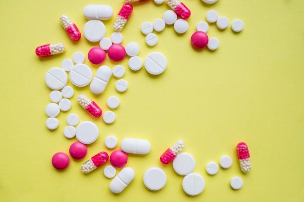 Comprimidos coloridos