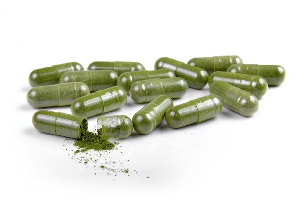 Comprimidos de cápsula de moringa isolados