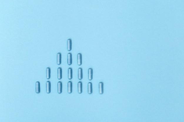 Comprimidos de medicamentos farmacêuticos em forma de cápsulas