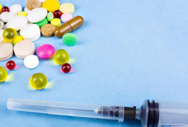 Comprimidos em azul