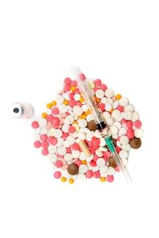 Comprimidos, injeções e ampolas