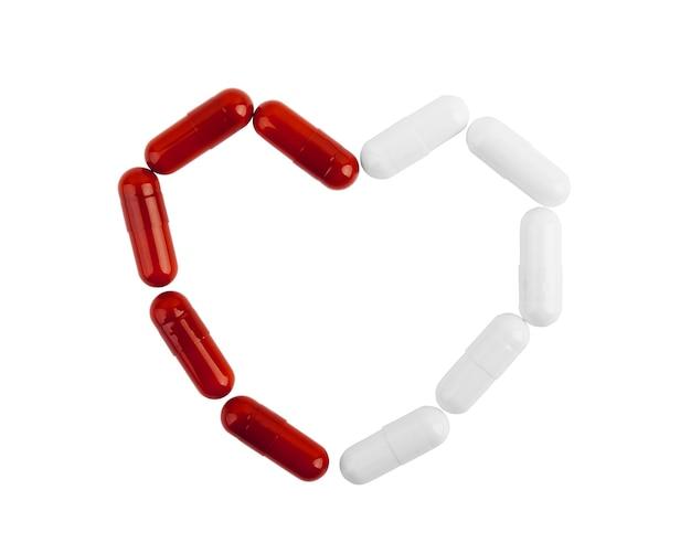 Comprimidos medicinais empilhados em close-up