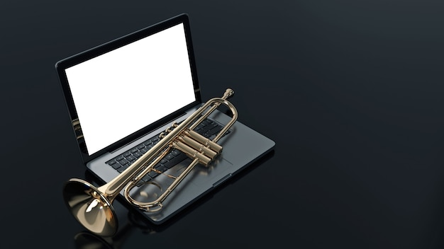 Computador com trompete