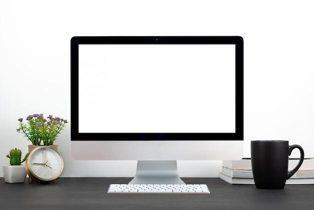 Computador de monitor de escritório