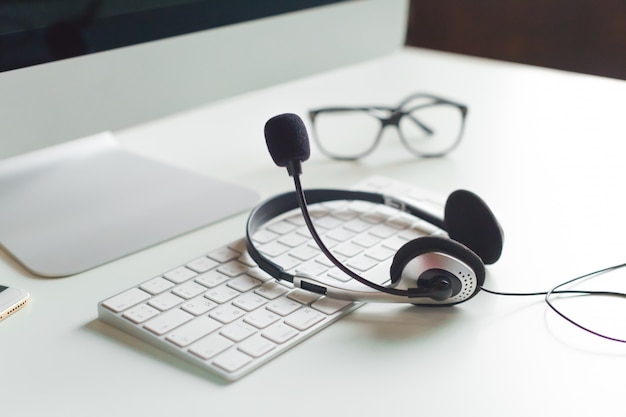 Computador portátil, com, headset