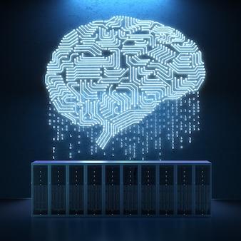 Computador servidor de renderização 3d com circuito cerebral