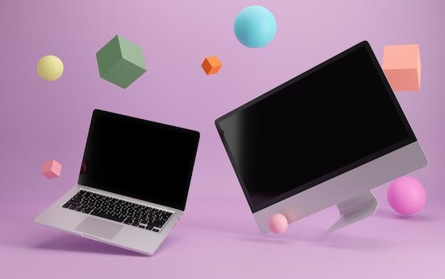 Computadores de mesa e laptops voadores