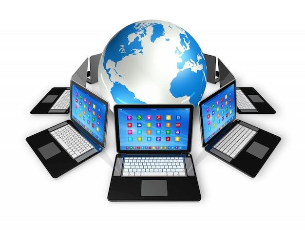 Computadores portáteis em todo o mundo