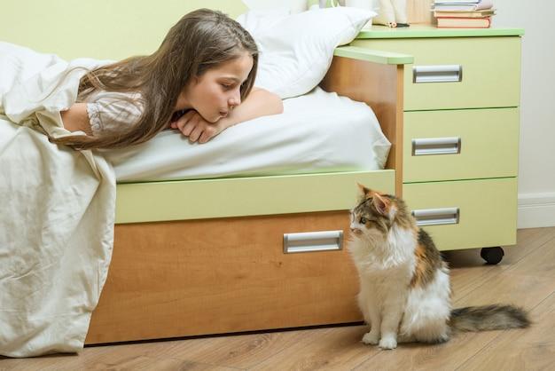 Comunicação de contato entre a criança e o animal de estimação