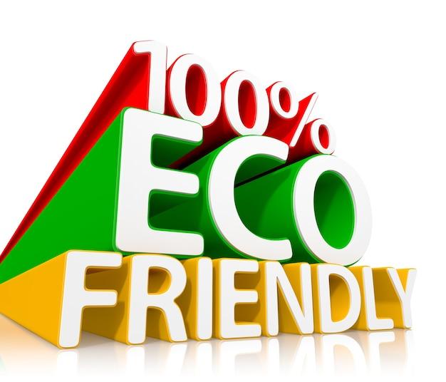 Conceito 100% ecológico. ilustração 3d