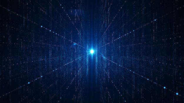 Conceito abstrato do fundo dos grandes dados da tecnologia.