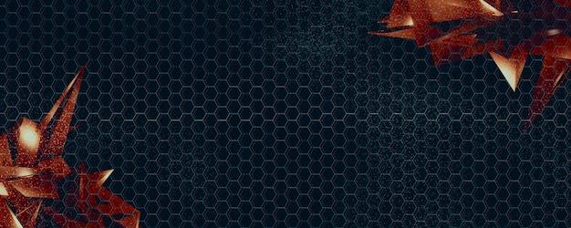 Conceito abstrato geométrico de prisma digital de cristal de diamante