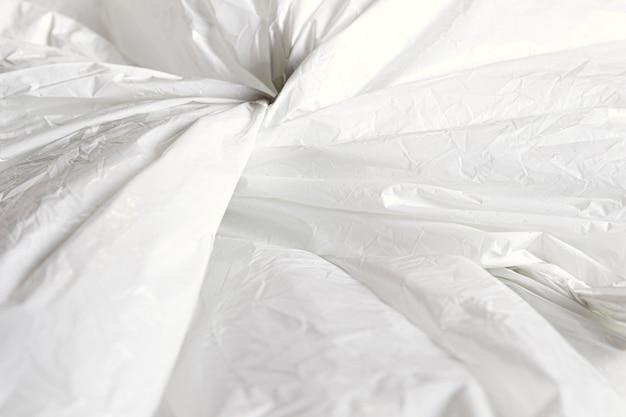 Conceito abstrato saco plástico close-up
