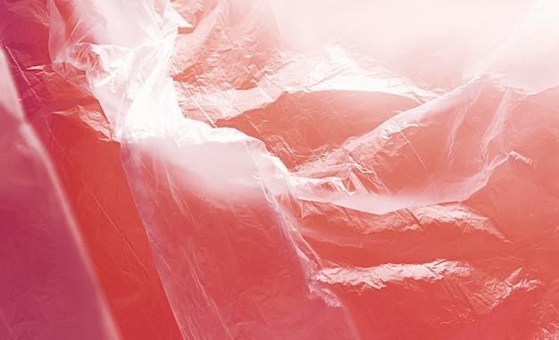 Conceito abstrato vermelho saco de plástico