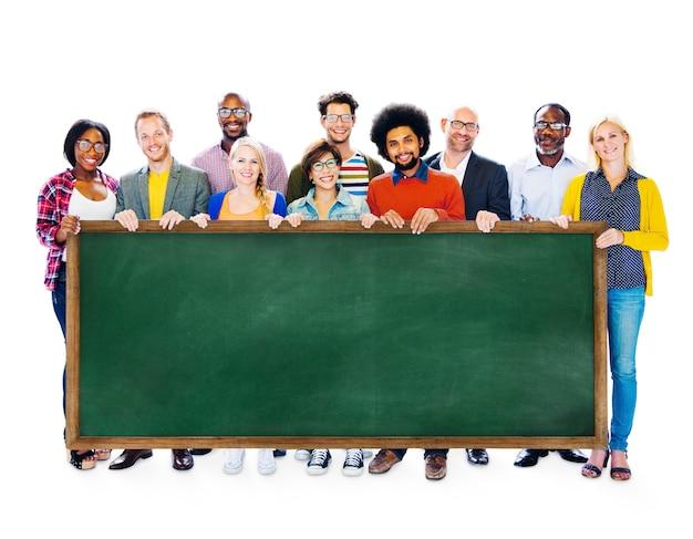 Conceito alegre da variação da ocupação étnica diversa do negócio