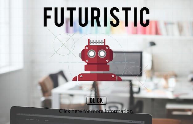 Conceito android robot cyborg ai robotics