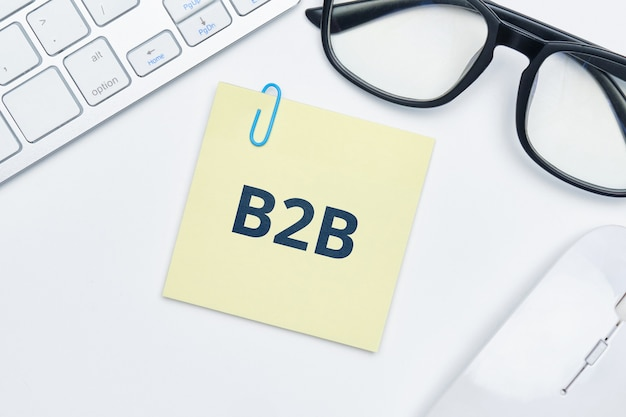 Conceito business to business no adesivo