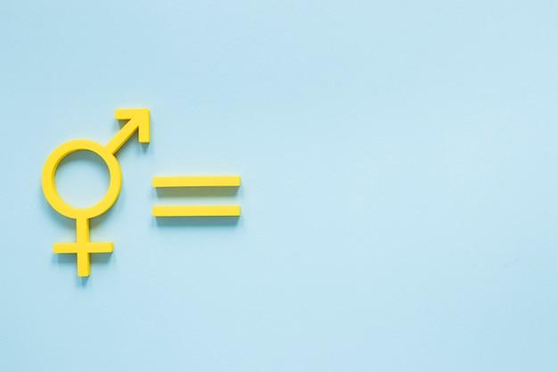 Conceito colorido de igualdade de direitos com design plano