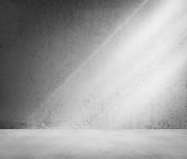 Conceito concreto do papel de parede da luz solar da sombra do canto da sala
