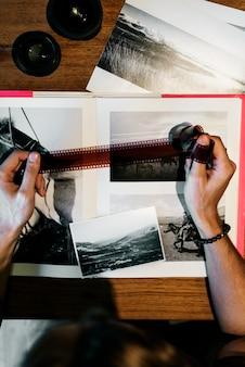 Conceito criativo do estúdio do projeto da ocupação das ideias da fotografia