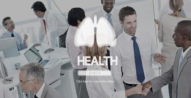 Conceito da bronquite da asma da pneumonia da medicina dos pulmões