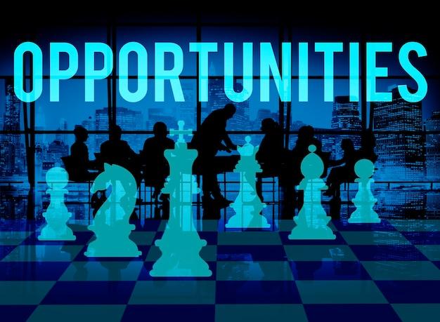Conceito da decisão da escolha da possibilidade da oportunidade das oportunidades