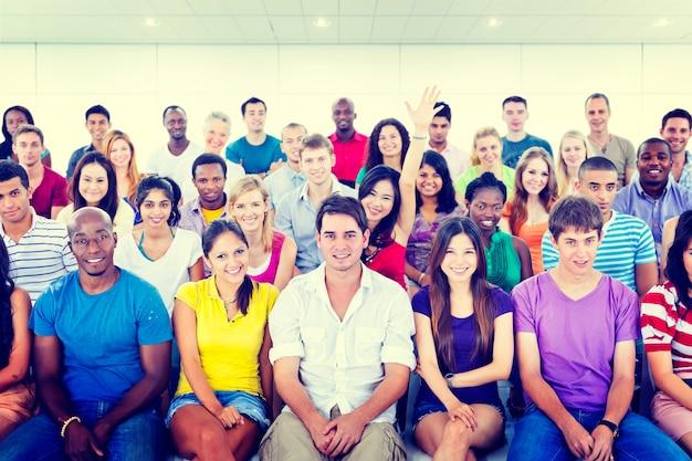 Conceito da educação do treinamento do seminário da equipe do adolescente da diversidade