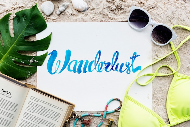 Conceito da exploração da viagem das férias das férias de verão da praia
