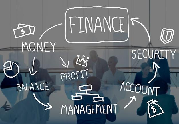 Conceito da gestão da análise da contabilidade de negócio da finança