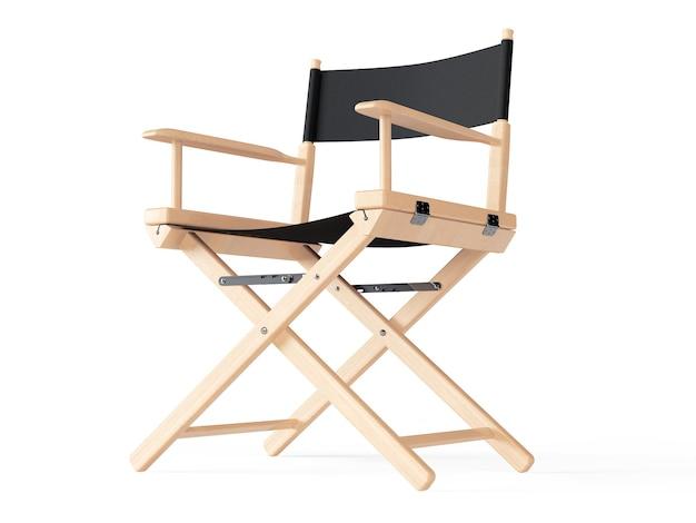 Conceito da indústria do cinema. cadeira de diretores em um fundo branco