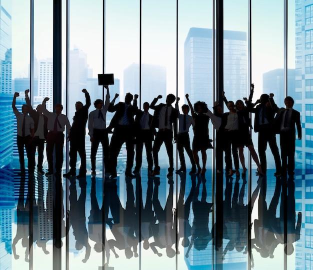 Conceito da ocupação do colega de trabalho do negócio da unidade dos trabalhos de equipa da equipe do sucesso