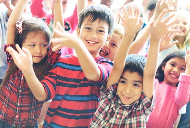 Conceito da unidade da afiliação étnica da diversidade da companhia da criança