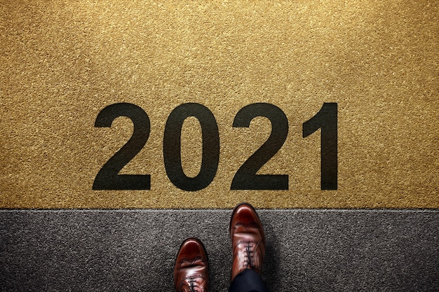 Conceito de 2021 anos.