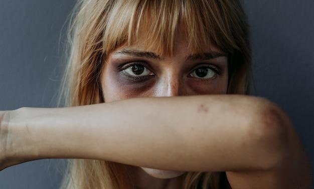 Conceito de acabar com a violência contra as mulheres