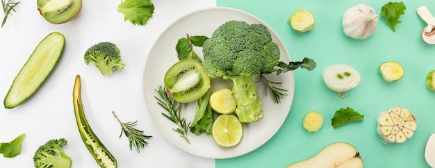 Conceito de alimentação saudável brócolis