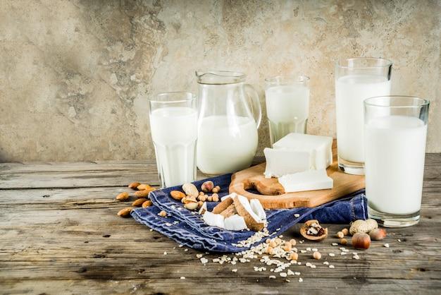 Conceito de alimentos para leite não lácteos