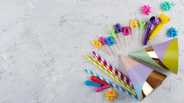 Conceito de aniversário com espaço de cópia