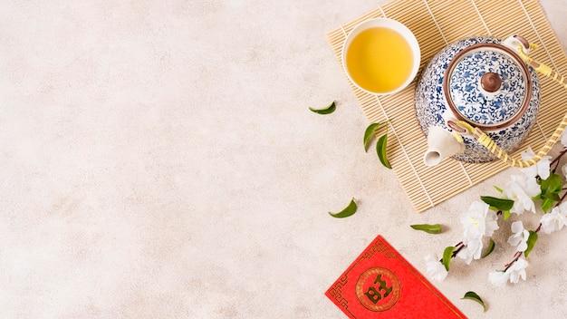 Conceito de ano novo chinês com espaço de cópia