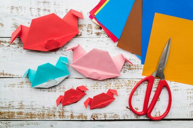 Conceito de ano novo chinês com papel artesanal
