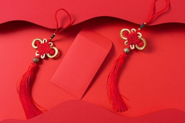 Conceito de ano novo chinês em estilo isométrico