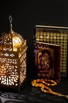 Conceito de ano novo islâmico com misbaha