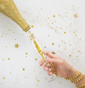 Conceito de ano novo lindo e brilhante