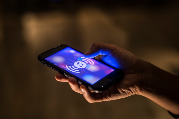 Conceito de aplicativo de música de smartphone