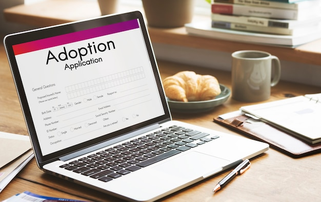 Conceito de apoio à tutela familiar do aplicativo de adoção