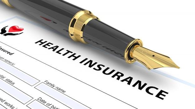 Conceito de apólice de seguro de saúde