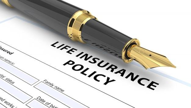 Conceito de apólice de seguro de vida