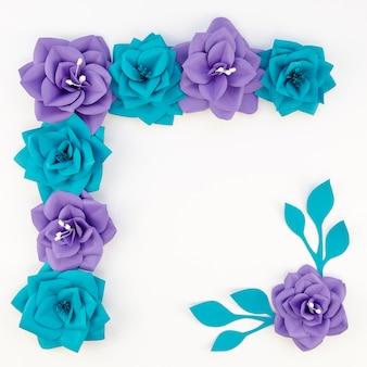 Conceito de arte com flores de papel