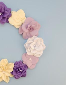 Conceito de arte com moldura floral circular