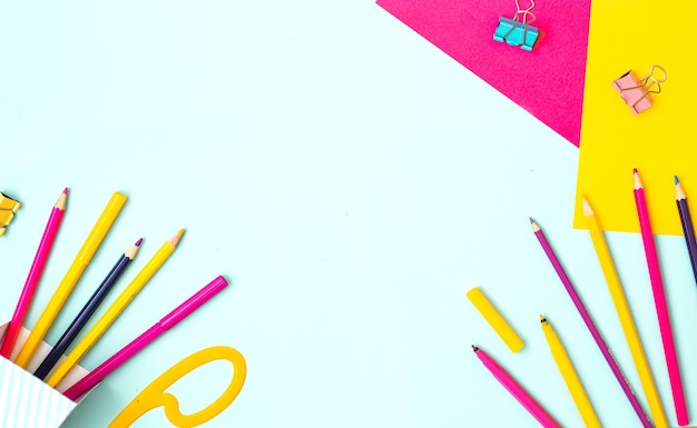 Conceito de arte infantil colorido plano